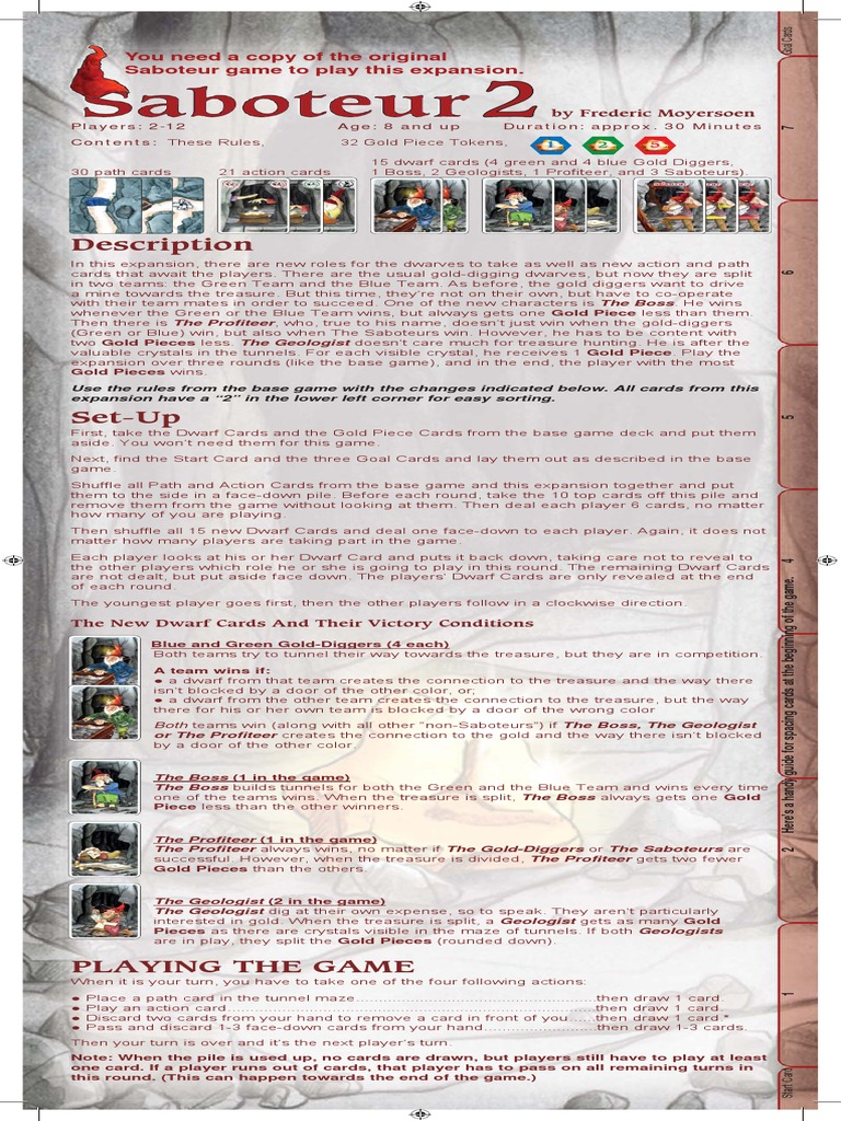 Saboteur 2 Dwarf Dungeons Dragons Gaming Devices