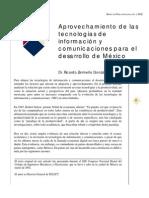 APROVECHAMIENTO DE LAS TICS PARA EL DESARROLLO DE MÉXICO (Dr. R. Zermeño)