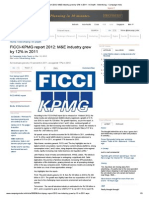 FICCI-KPMG Report 2012_ M&E Industry Grew by 12% in 2011 - In Depth -- Campaign India