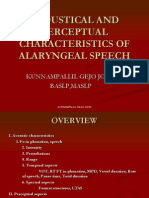 Acoustical and Perceptual Characteristics of Alaryngeal Speech