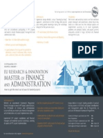 EU Research & Innovation Master of Finance and Administration