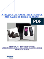 A Project on the Marketing Strategy and Sales of Nokia in Assam