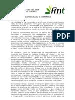 FMT - Borrador Manifiesto Foro Movilidad Área Metropolitana Te nerife