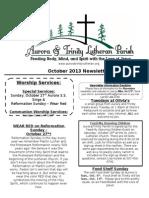Aurora-Trinity Newsletter Oct13