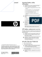 HP UPS Battery Replacement Installation Instructions