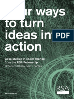 RSA Fellowship Four Ways to Turn Ideas Into Action