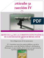 EXPOSICION Principios Constitucionales Fiscales Art 31 Fracc IV (1)
