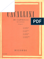 Cavallini 30 Caprichos for Clarinet