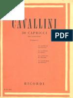 Cavallini 30 Caprichos for Clarinet