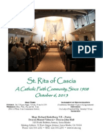St. Rita Parish Bulletin 10/6/2013
