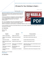 60 Essential Spanish Phrases for Your Holidays in Spain - Part 2