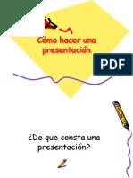 Cómo hacer una presentacion
