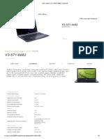 Acer _ Aspire V3 _ V3-571-6682 _ Datasheet