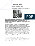 Jean Paul Sartre Discurso Nobel