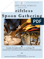 Driftless Folk School Spoon Gathering 11/2/13