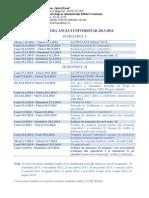 Structura Anului Univ 2013 - 2014