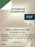 Factores de Calibracion