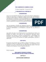 ACUERDO GUBERNATIVO 415-2003 REGLAMENTO ORGÁNICO INTERNO MINISTERIO DE RELACIONES EXTERIORES