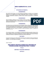 Acuerdo Gubernativo 520-99 to Organico Interno Del Ministerio de Comunicaciones Infraestructura