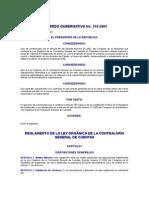 ACUERDO GUBERNATIVO No 318-2003 REGLAMENTO DE LA LEY ORGÁNICA DE LA CONTRALORÍA GENERAL DE CUENTAS