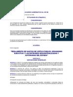 ACUERDO GUBERNATIVO No 397-98 REGLAMENTO DE GASTOS DE VIÁTICO PARA EL ORGANISMO EJECUTIVO Y LAS ENTIDADE