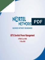 iBTS Dowlink Power Management (MaxTxPower - TMA
