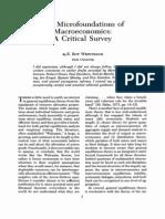 Weintraub the Macrofoundations of Macroeconomics