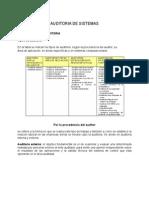 Clasificacion Detallada de Auditorias