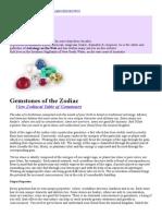 Gemstones of the Zodiac