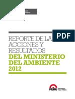 1 Reporte de Acciones Ambientales MINAM 2012