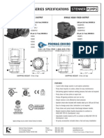 Stenner Classic 85 Series Peristaltic Metering Pump Spec Sheet