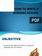 Resume Writing Thapar University.pptx