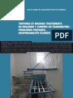 Tortures et mauvais traitements en Moldavie y COM PRIS en Transnistrie : Problèmes partagés, responsabilités éludées