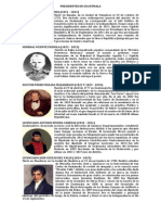 Presidentes de Guatemala Resumen Detallado