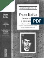 Un Artista Del Hambre - Franz Kafka