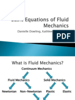 Basic Equations of Fluid Mechanics