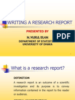 Writing a Research Report (2)
