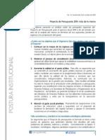Postura 13 - Proyecto de Presupuesto 2014