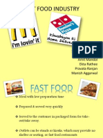 Fast Food Industry Ppt