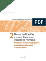 Descentralizacion y Poder Local en El Desarrollo Humano Librofinal020407