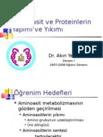 Protein Metabolizması DI 2008-2009