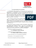 24-09-2012-Cambios en Grupo Municipal Socialista