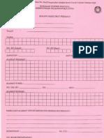 borang maklumat peribadi untuk cetakan sijil