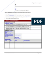 Project Charter Form Template