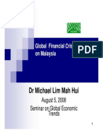 Lim Mah Hui - Global Financial Crisis and Impact on Malaysia_2008 at SERI