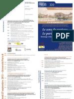 Programme Sens Du Partage Sept 2013