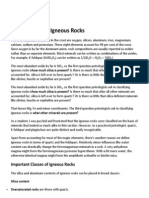 Classification of Igneous Rock