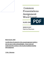 Common Presentation Assignment 1