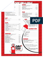 gas pump bar  grille menu