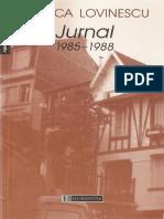 Monica Lovinescu Jurnal 1985 -1988 (volumul 2)